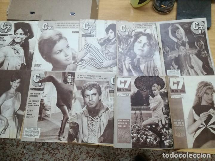 LOTE DE 10 REVISTAS.CINE EN 7 DIAS. AÑOS 60.VER FOTOS (Cine - Revistas - Cine en 7 dias)