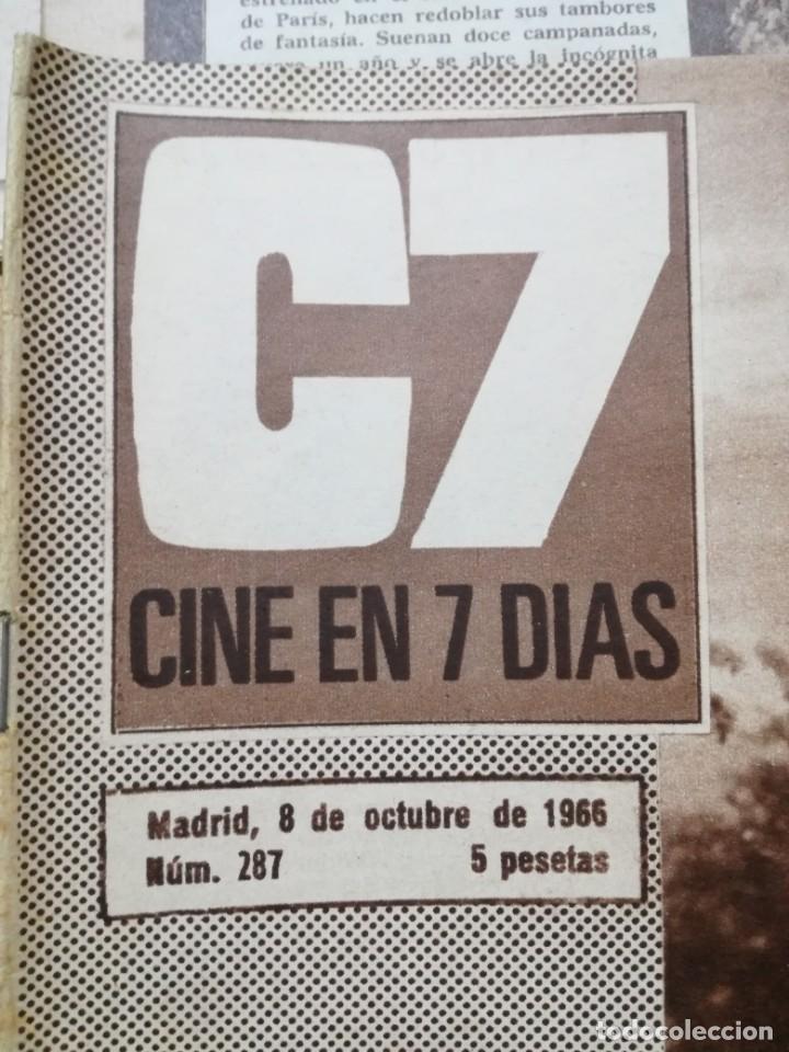 Cine: LOTE DE 10 REVISTAS.CINE EN 7 DIAS. AÑOS 60.VER FOTOS - Foto 5 - 133374478