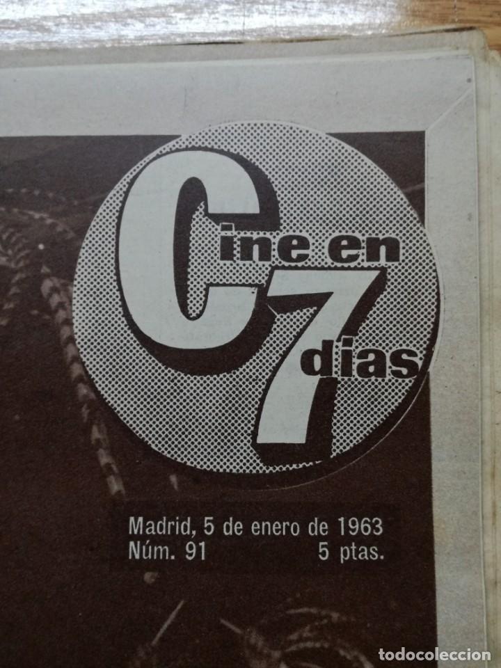 Cine: LOTE DE 10 REVISTAS.CINE EN 7 DIAS. AÑOS 60.VER FOTOS - Foto 9 - 133374478