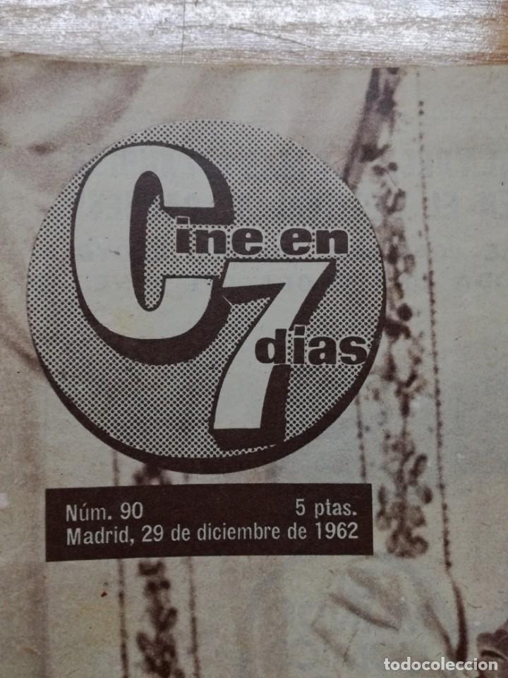 Cine: LOTE DE 10 REVISTAS.CINE EN 7 DIAS. AÑOS 60.VER FOTOS - Foto 13 - 133374478