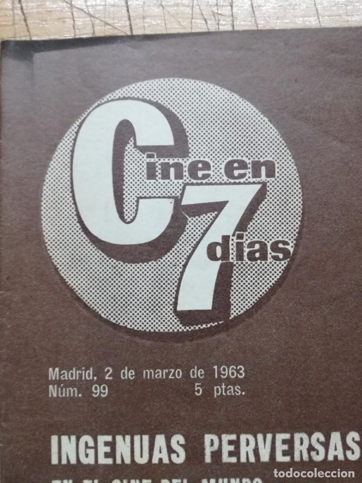 Cine: LOTE DE 10 REVISTAS.CINE EN 7 DIAS. AÑOS 60.VER FOTOS - Foto 17 - 133374478