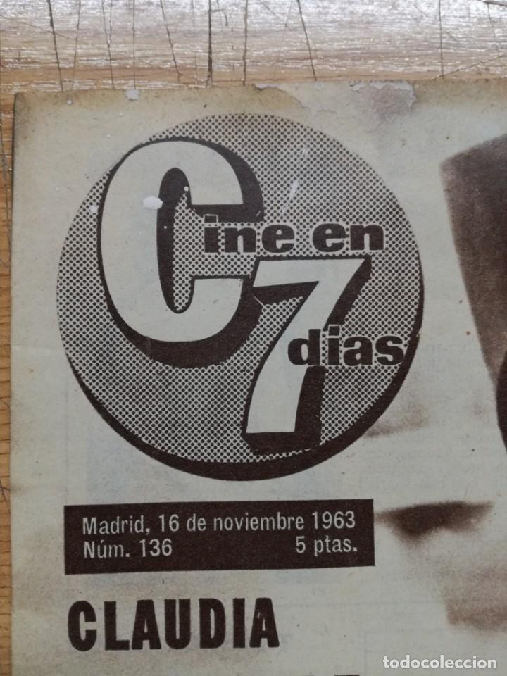 Cine: LOTE DE 10 REVISTAS.CINE EN 7 DIAS. AÑOS 60.VER FOTOS - Foto 19 - 133374478