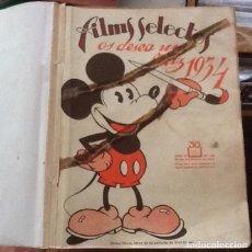 Cine: FILMS SELECTOS, LOTE DE 27 EJEMPLARES DEL 168 AL 194, ENERO-JUNIO 1934. Lote 133392158