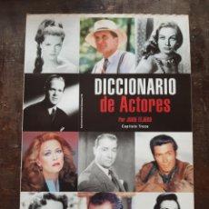 Cine: DICCIONARIO DE ACTORES. CAPITULO 13. JUAN TEJERO. RARO. Lote 133432297