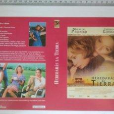 Cine: CARATULA PARA RECORTAR PELICULA HEREDERADAS LA TIERRA Y HISTORIA DE LO NUESTRO. Lote 133442347