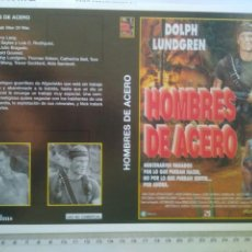 Cine: CARATULA PARA RECORTAR PELICULA HOMBRES DE ACERO Y HOSPITAL HORA CERO. Lote 133443405