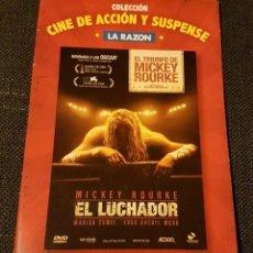 Cine: EL LUCHADOR MICKEY ROURKE COLECCIÓN CINE DE ACCIÓN Y SUSPENSE LA RAZÓN. Lote 133678074