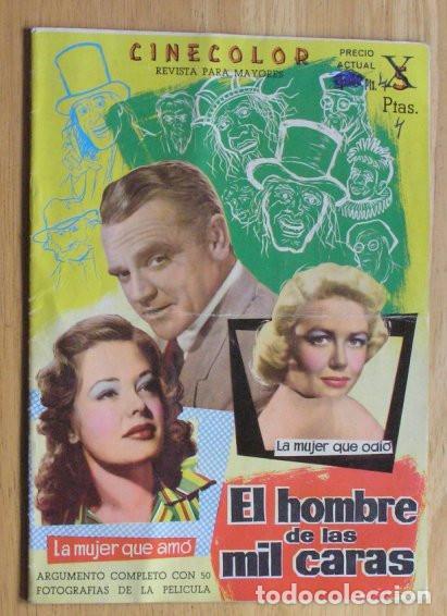 EL HOMBRE DE LAS MIL CARAS - CINECOLOR REVISTA PARA MAYORES (Cine - Revistas - Cinecolor)