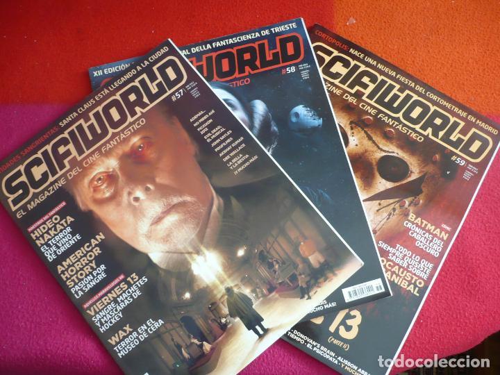 SCIFIWORLD NºS 57, 58 Y 59 ¡MUY BUEN ESTADO! REVISTA CIENCIA FICCION CINE FANTASTICO 2013 (Cine - Revistas - Otros)