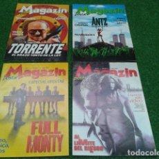 Cine: LOTE 4 REVISTAS CATALOGO ( MAGAZIN POSTAL )1998/99 TORRENTE, ANTZ, FULL MONTY, AL LIMITE DEL RIESGO. Lote 133971774