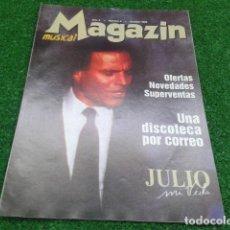 Cine: LOTE 4 REVISTAS CATALOGO ( MAGAZIN MUSICAL ) AÑO 2 Nº 8 OCTUBRE 1998 JULIO IGLESIAS. Lote 133971898