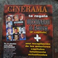 Cine: DICCIONARIO DE ACTORES. CAPITULOS 1 AL 8. JUAN TEJERO. RARO. Lote 133990155