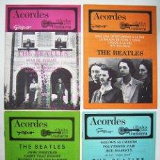 Cine: THE BEATLES. 4 CUADERNILLOS DE ACORDES.. Lote 145653644