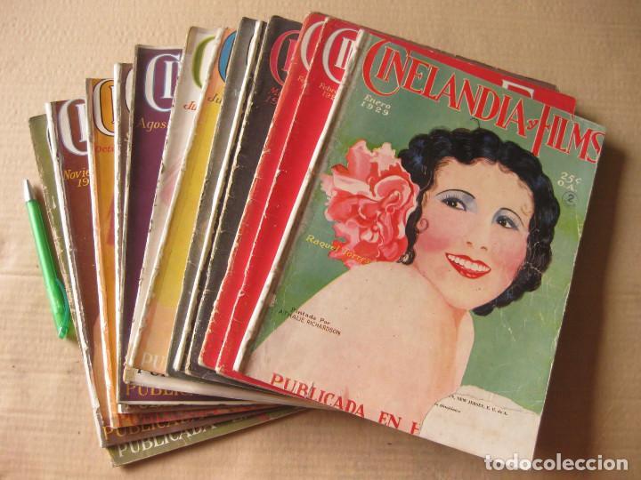 REVISTA CINELANDIA Y FILMS. AÑO 1929 COMPLETO. 12 NÚMEROS. (Cine - Revistas - Cinelandia)