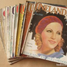 Cine: REVISTA CINELANDIA Y FILMS. AÑO 1930 COMPLETO. 12 NÚMEROS.. Lote 134084374