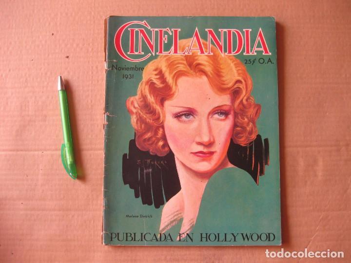 REVISTA CINELANDIA. NOVIEMBRE DE 1931. (Cine - Revistas - Cinelandia)