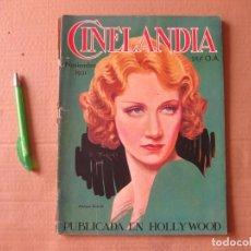 Cine: REVISTA CINELANDIA. NOVIEMBRE DE 1931.. Lote 134084570