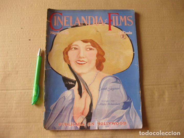 REVISTA CINELANDIA Y FILMS. MAYO DE 1928. (Cine - Revistas - Cinelandia)