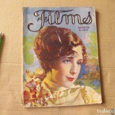 Cine: REVISTA FILMS. AGOSTO DE 1927.. Lote 134085338