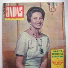 Cine: SARA MONTIEL, INGRID BERGMAN. REVISTA ONDAS. AÑO 1964.. Lote 134132342