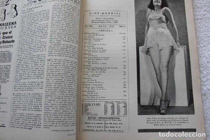 Cine: REVISTA CINE MUNDIAL. VOL XVIII Nº 5 MAYO 1933 - PORTADA BARBARA STANWYCK - Foto 2 - 134317662
