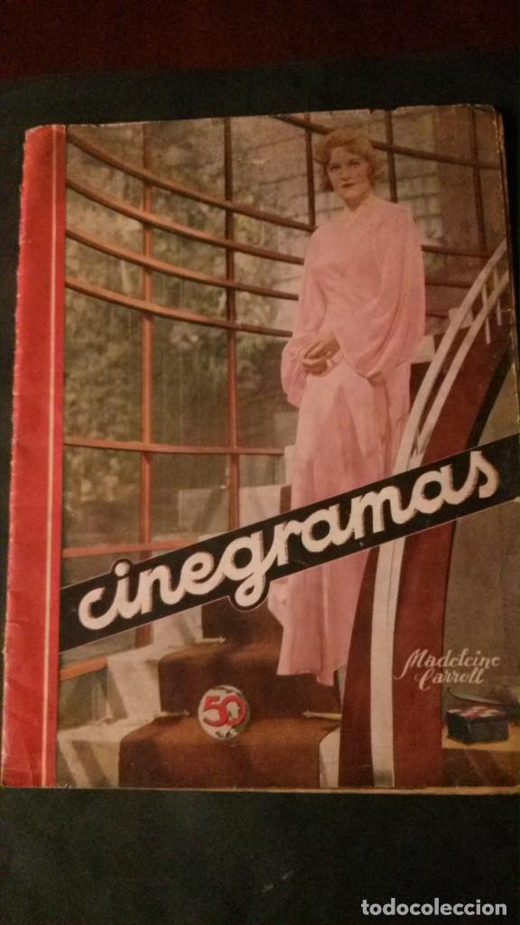 REVISTA CINEGRAMAS Nº 34-1935-MADELEINE CARROLL-DOLORES DEL RIO (Cine - Revistas - Cinegramas)