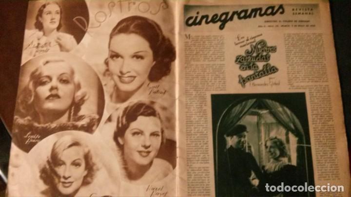 Cine: REVISTA CINEGRAMAS Nº 34-1935-MADELEINE CARROLL-DOLORES DEL RIO - Foto 2 - 134440910