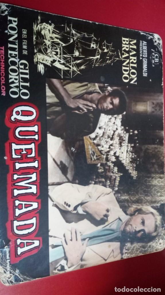QUEIMADA CON MARLON BRANDO/ CARTELA 39X29 (Cine - Revistas - Cinegramas)
