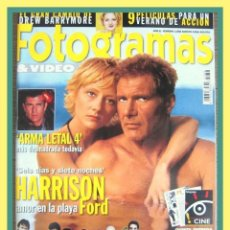 Cine: REVISTA FOTOGRAMAS Nº 1858. AGOSTO 1998. HARRISON FORD, ANNE HECHE, MEL GIBSON, DREW BARRYMORE, ETC.. Lote 44360371