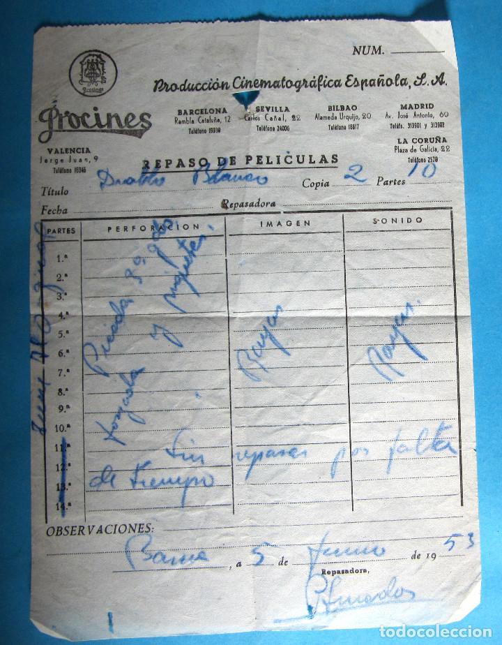 REPASO DE PELÍCULAS. PELÍCULA DIABLO BLANCO. PROCINES, 1953. (Cine - Revistas - Papeles de cine)