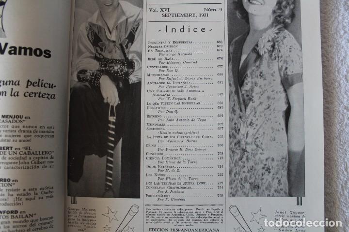 Cine: REVISTA CINE MUNDIAL. VOL XVI Nº 9 SEPTIEMBRE 1931 - PORTADA: ANN HARDING - Foto 2 - 152132616