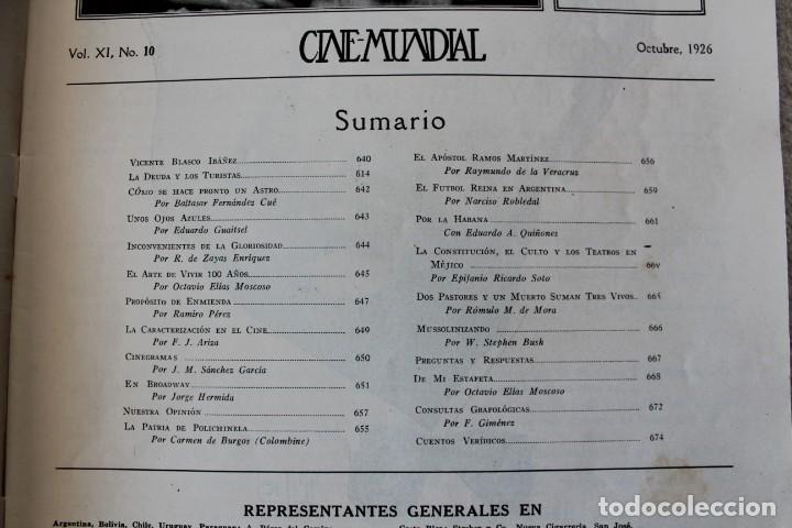 Cine: REVISTA CINE MUNDIAL. VOL XI Nº 10 OCTUBRE 1926 - PORTADA: ALICE TERRY - Foto 2 - 135333290
