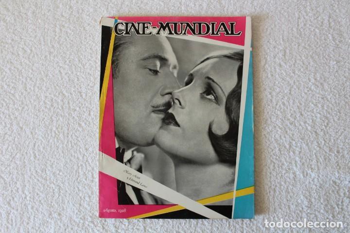 REVISTA CINE MUNDIAL. VOL XIII Nº 8 AGOSTO 1928 - PORTADA: MARY ASTOR Y EDMUND LOWE (Cine - Revistas - Cine Mundial)