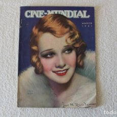 Cine: REVISTA CINE MUNDIAL. VOL XVI Nº 3 MARZO 1931 - PORTADA: ANITA PAGE. Lote 135339782
