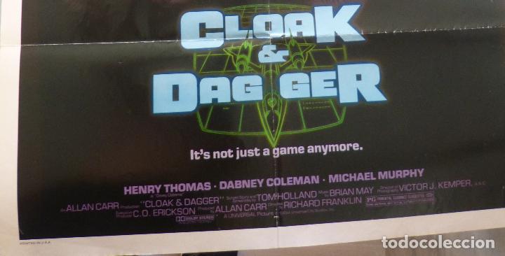 Cine: Póster Original de la película Cloak & Dag Ger, Doblado, 27 x 41, USA, 1984 - Foto 2 - 135350770