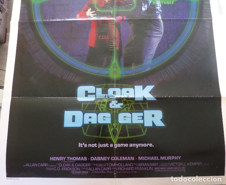 Cine: Póster Original de la película Cloak & Dag Ger, Doblado, 27 x 41, USA, 1984 - Foto 5 - 135350770