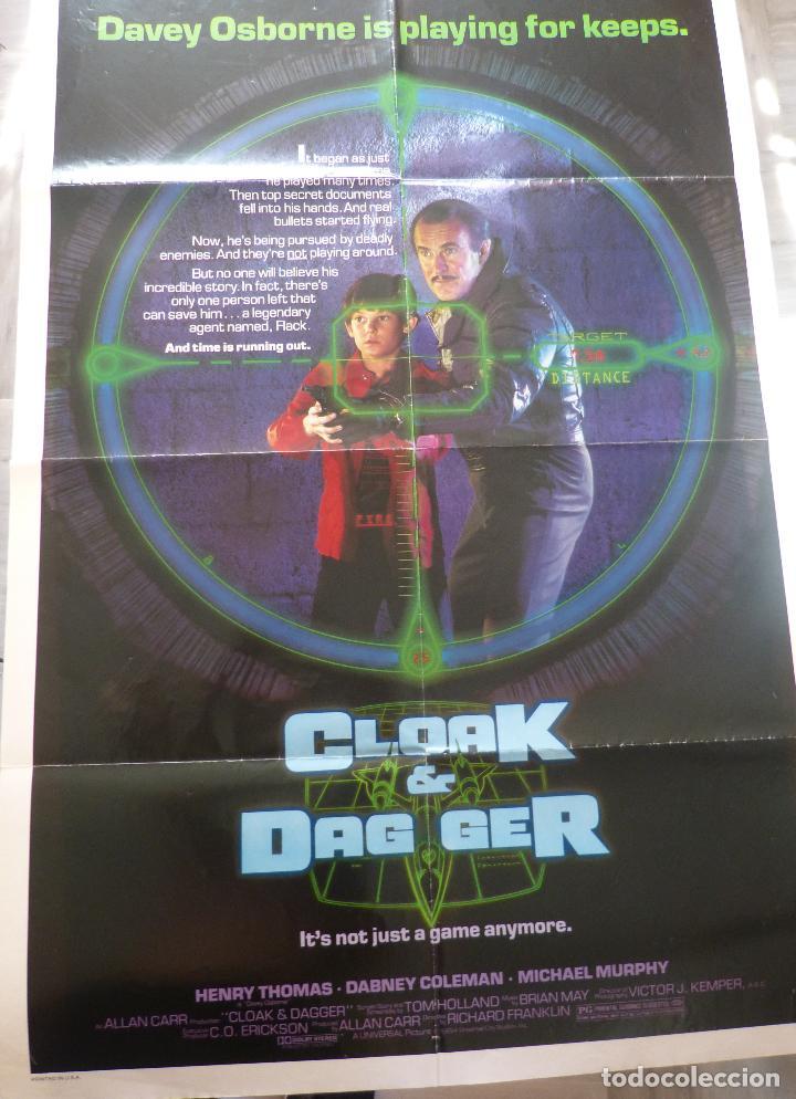 Cine: Póster Original de la película Cloak & Dag Ger, Doblado, 27 x 41, USA, 1984 - Foto 7 - 135350770