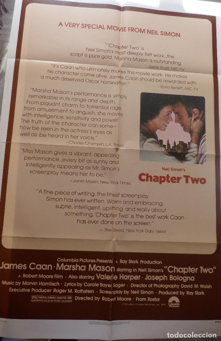 Cine: Poster de la película Chapter Two, Original, Doblado, 1979, 27 x 41, James Caan - Foto 4 - 135352702
