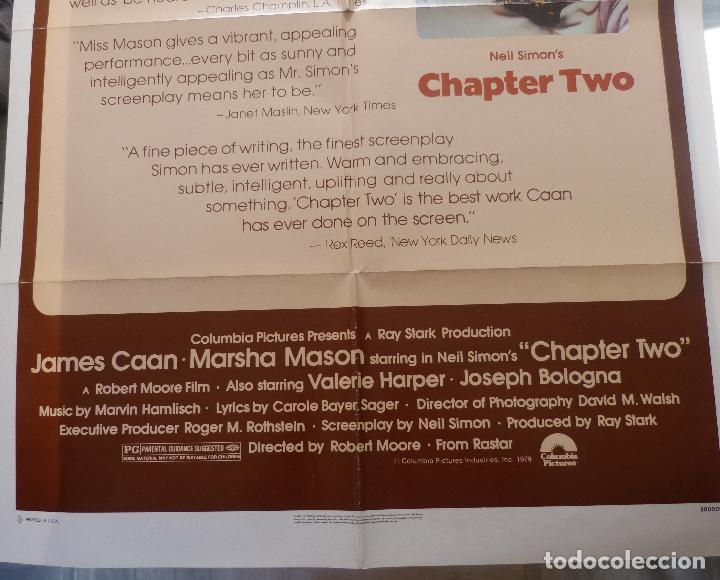 Cine: Poster de la película Chapter Two, Original, Doblado, 1979, 27 x 41, James Caan - Foto 6 - 135352702