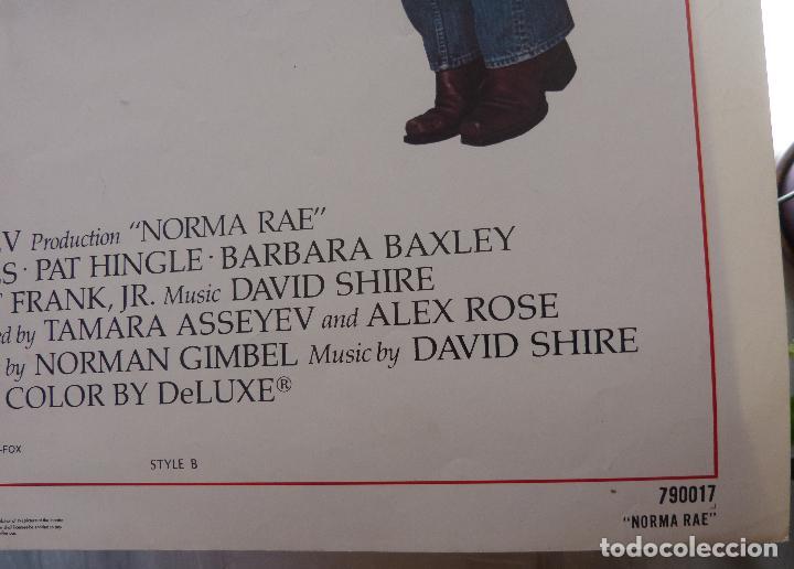 Cine: Poster de la película Norma Rae, 1979, 104 x 69, Original, Estilo B, Sally Field - Foto 2 - 135394962