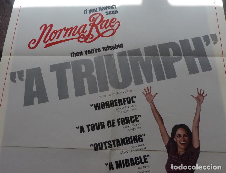 Cine: Poster de la película Norma Rae, 1979, 104 x 69, Original, Estilo B, Sally Field - Foto 6 - 135394962