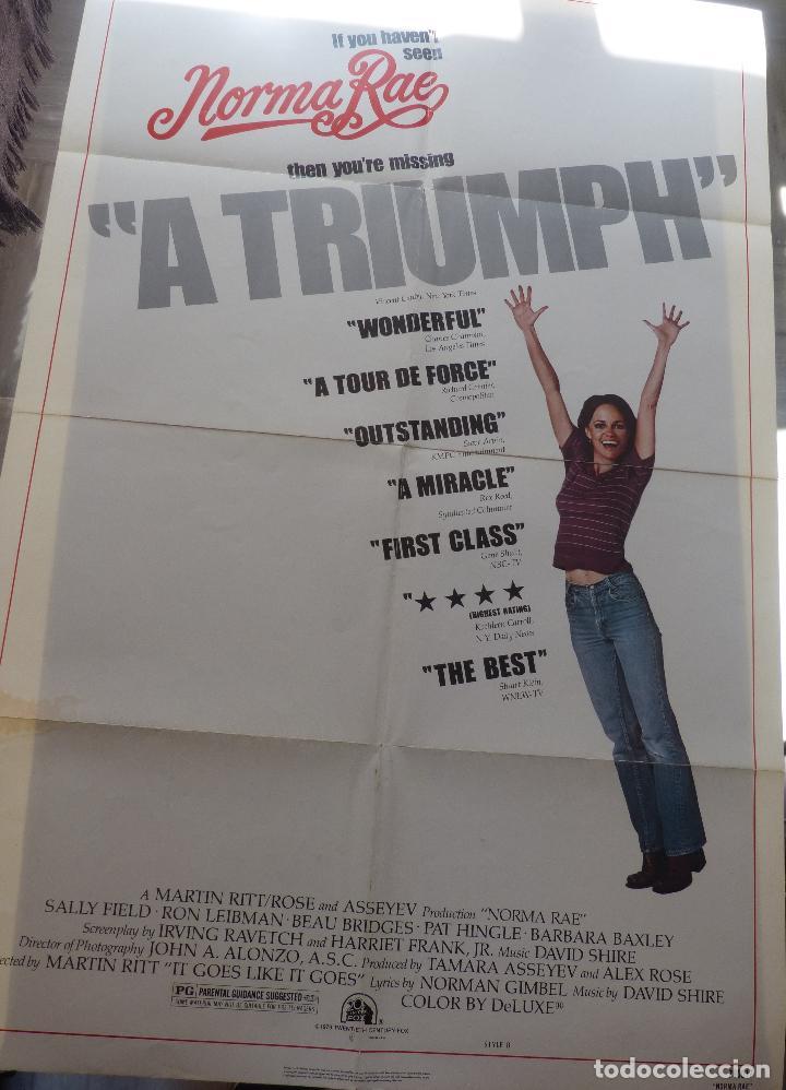 Cine: Poster de la película Norma Rae, 1979, 104 x 69, Original, Estilo B, Sally Field - Foto 8 - 135394962