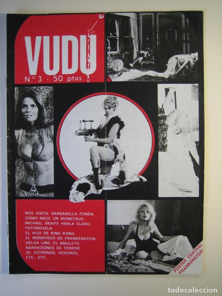 VUDÚ.REVISTA Nº3.POSTER CENTRAL - FRANKESTEIN (1975,GRAFICAS INDUSTRIALES) (Cine - Revistas - Otros)