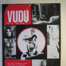 Cine: VUDÚ.REVISTA Nº3.POSTER CENTRAL - FRANKESTEIN (1975,GRAFICAS INDUSTRIALES). Lote 135462814
