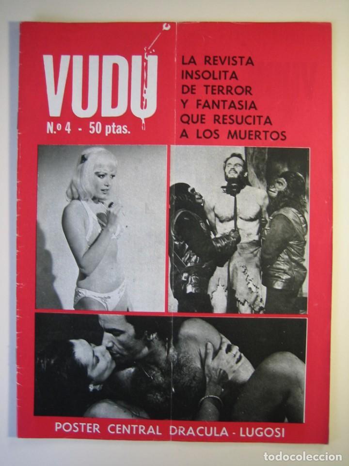 VUDÚ.REVISTA Nº4.POSTER CENTRAL DRACULA-LUGOSI (1975,GRAFICAS INDUSTRIALES) (Cine - Revistas - Otros)