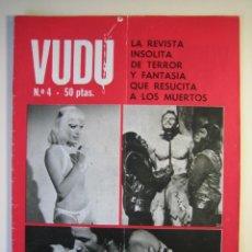 Cine: VUDÚ.REVISTA Nº4.POSTER CENTRAL DRACULA-LUGOSI (1975,GRAFICAS INDUSTRIALES) . Lote 135463042