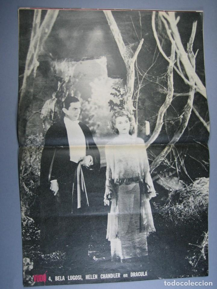 Cine: VUDÚ.revista Nº4.POSTER CENTRAL DRACULA-LUGOSI (1975,GRAFICAS INDUSTRIALES) - Foto 3 - 135463042
