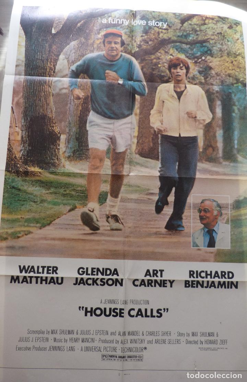 PÓSTER DE LA PELÍCULA HOUSE CALLS, DOBLADO, ORIGINAL, 1978, WALTER MATTHAU (Cine - Revistas - Cine Mundial)