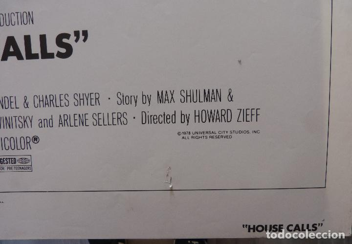 Cine: Póster de la película House Calls, Doblado, Original, 1978, Walter Matthau - Foto 3 - 135504954