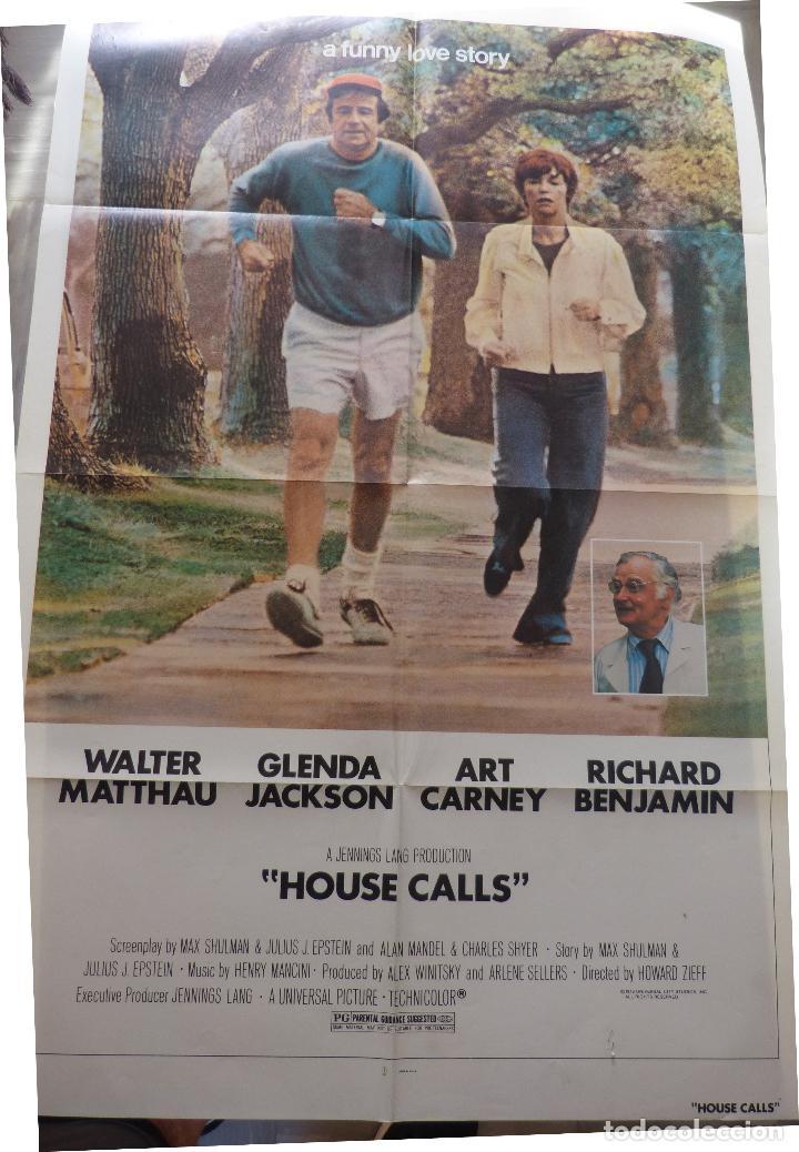 Cine: Póster de la película House Calls, Doblado, Original, 1978, Walter Matthau - Foto 5 - 135504954